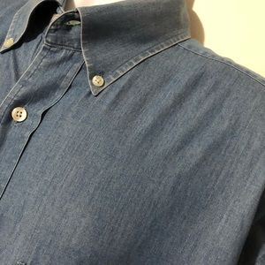 Tommy Hilfiger Crest Logo Denim Button Shirt